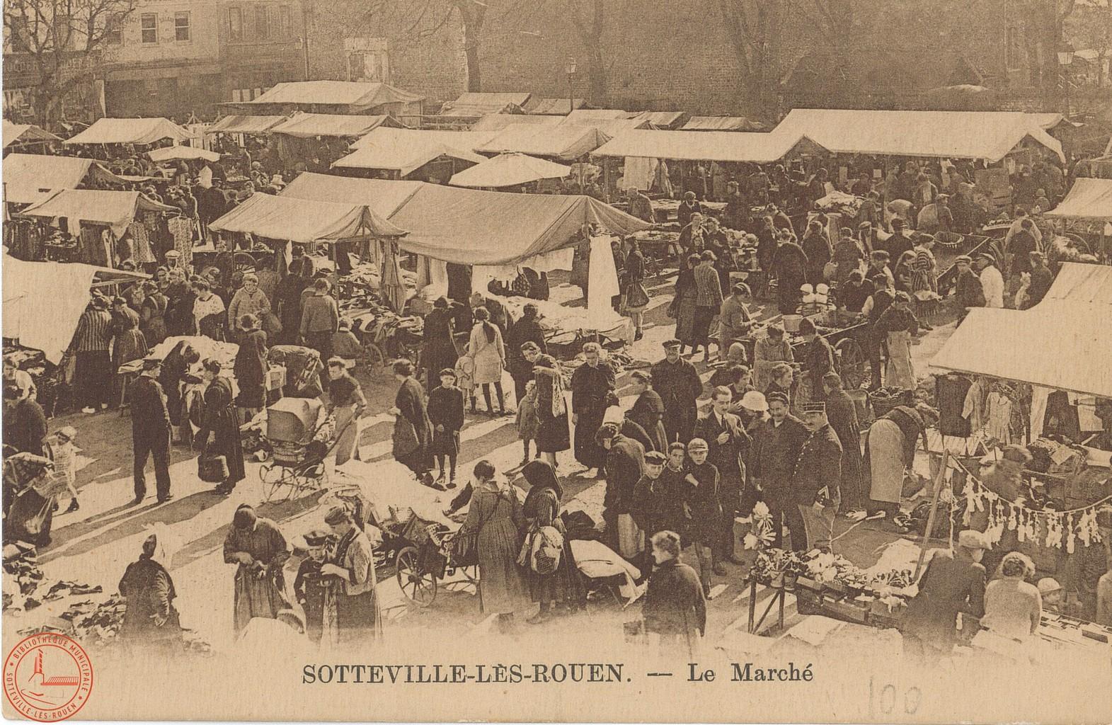 Sotteville-lès-Rouen : le marché |