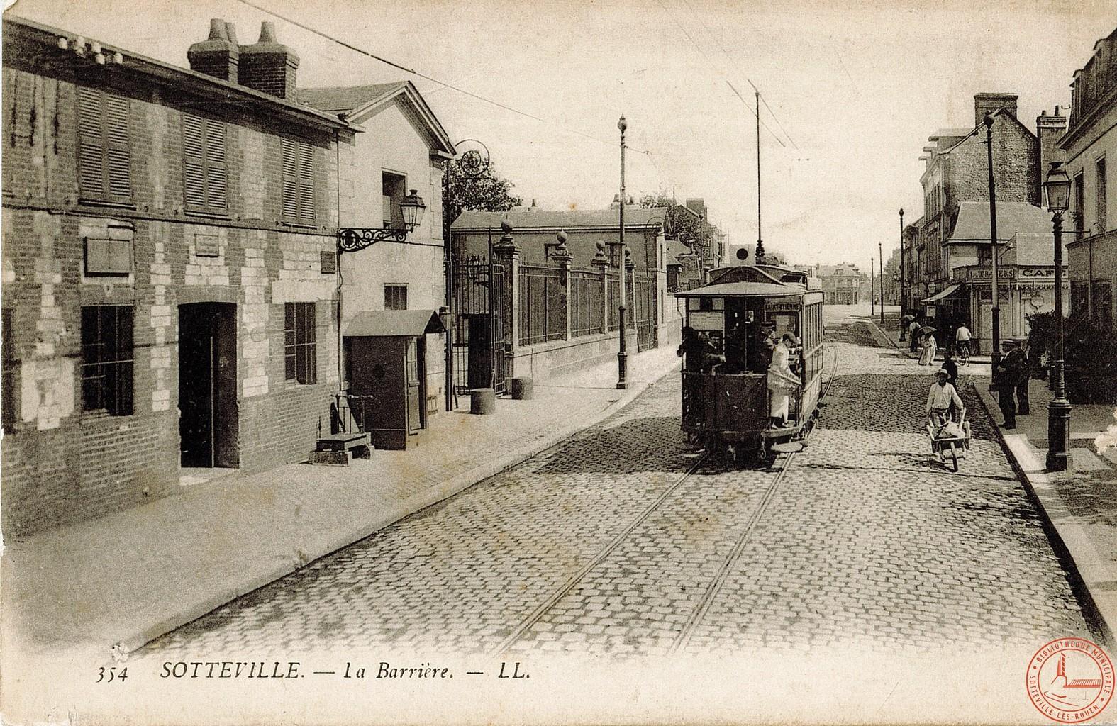 Sotteville : la barrière  