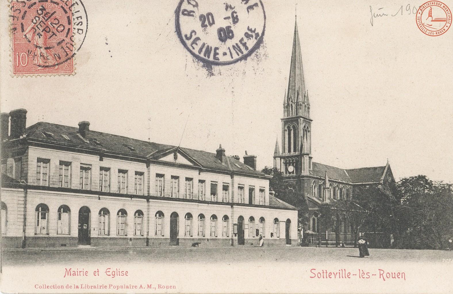 Sotteville-lès-Rouen : Mairie et Eglise  